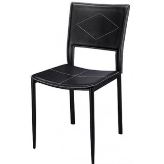 Chrome Frame Dining Chair With Vinyl Seat And Back