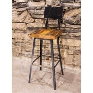 Reclaimed Wood Bar Stools - Clive Stool - RestaurantFurniture.com
