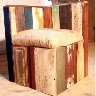 Coffee Shop Upcycled Corner Lounge Chair
