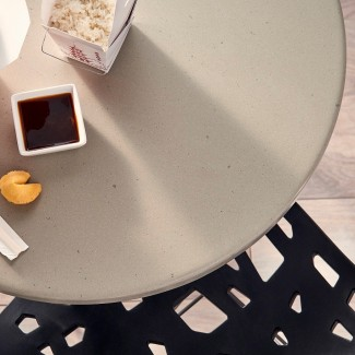 Commercial Indoor Outdoor Restaurant Dupont Corian Table Top Round