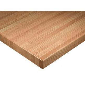 "24"" x 42"" Solid Wood Standard Butcher Block Table Top"