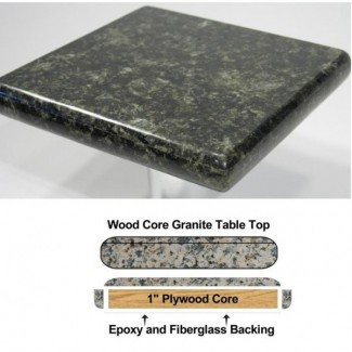 "30"" Square Premium Granite Table Top"