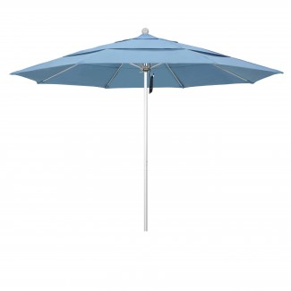 11' Octagonal Fiberglass Rib Market Umbrella with Pole Color Option