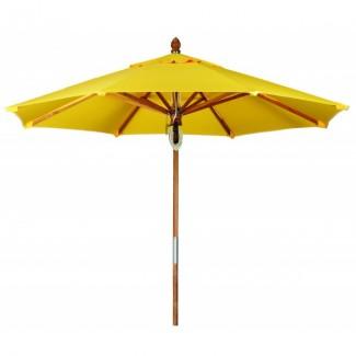 Commercial Restaurant Umbrellas 11ft. Octagon Teak Market Umbrella
