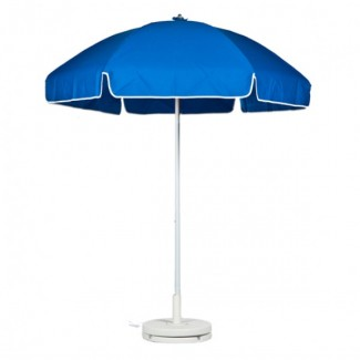 6-5 Foot Fiberglass Lifeguard Umbrella With Valance And Aluminum Pole