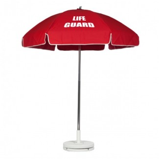 6-5 Foot Steel Lifeguard Umbrella With Valance And Aluminum Pole
