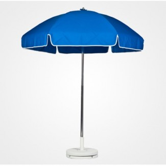 7-5 Foot Steel Patio Umbrella With Valance And Aluminum Pole