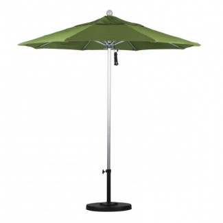 7.5' Octagonal Fiberglass Rib Market Umbrella with Pole Color Option