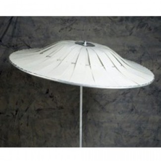 Commercial Restaurant Umbrellas Aluminum Vane Umbrella Solid Color Style