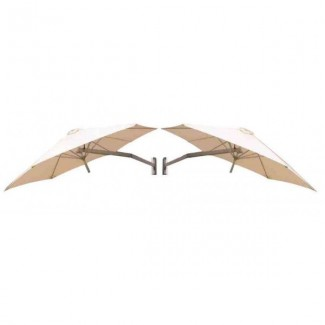 Commercial Patio Umbrellas Duo Wallflex Wall Mounted Cluster Umbrella