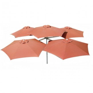 Commercial Patio Umbrellas Multiflex 5 Patio Cluster Umbrella