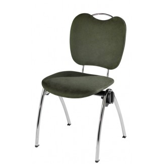 Congresso Steel Stacking Side Chair with Handgrip 681T