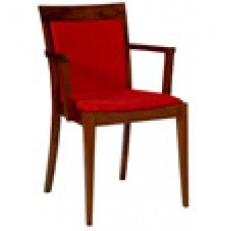 Beechwood Upholstered Arm Chair RF-235