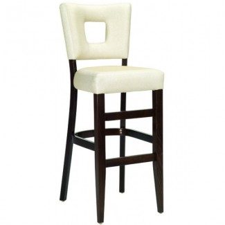 Contemporary Restaurant Solid Beech Wood Bar Stool CFC-328F-U