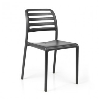 Nardi Costa Bistrot Resin Side Chair - Caffe
