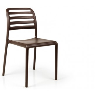 Costa Bistrot Resin Side Chair - Caffe
