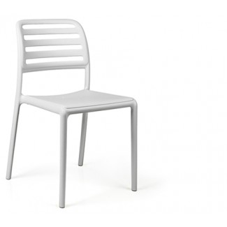 Costa Bistrot Resin Side Chair - White