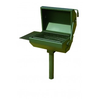 Covered Commercial Charcoal Grill with Shelf