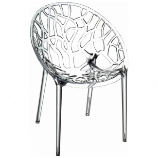 Crystal Stacking Resin Side Chair - Clear