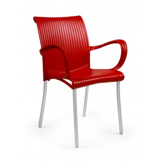Dama Stacking Resin Arm Chair