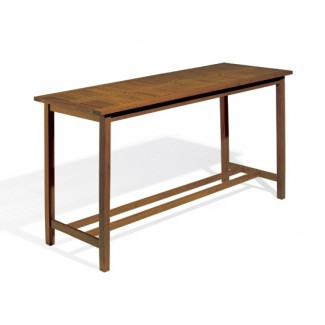 Dartmoor Long Bar Table - Brown Umber