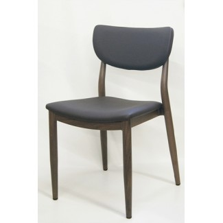 Faux Wood Grain Metal Restaurant Side Chairs Desi Sidechair