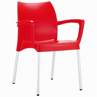 Dolce Stacking Resin Arm Chair