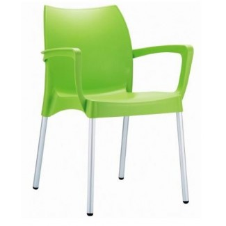 Dolce Stacking Resin Arm Chair - Light Green