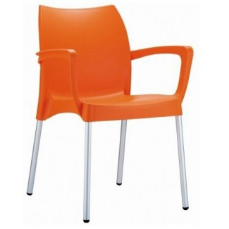 Dolce Stacking Resin Arm Chair - Orange