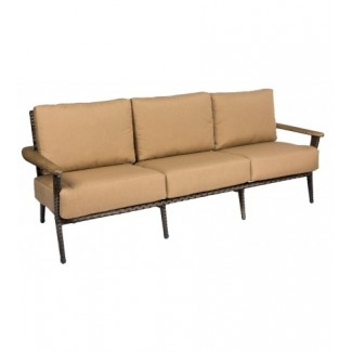 Draper S512031 Mid century Modern Outdoor Hotel Pool Lounge Commercial Woven Upholstered Sofa