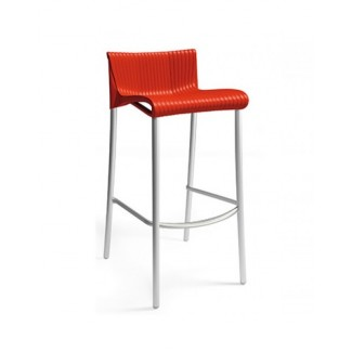 Duca Stacking Restaurant Bar Stool in Red
