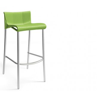 Duca Stacking Resin Bar Stool - Apple Green