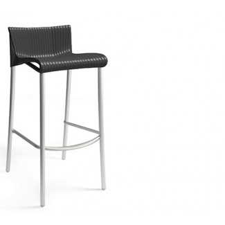 Duca Stacking Resin Bar Stool - Anthracite
