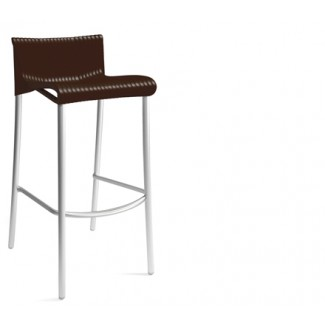 Duca Stacking Resin Bar Stool - Caffe
