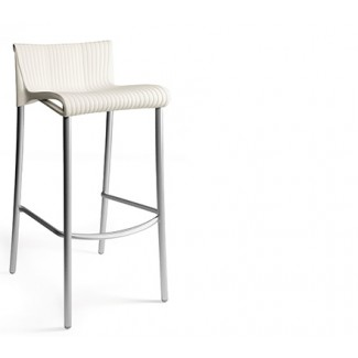 Duca Stacking Resin Bar Stool - Ivory