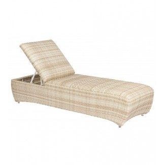 Eclipse S605041 Modern Outdoor Hotel Pool Lounge Commercial Woven Wicker Chaise Lounge