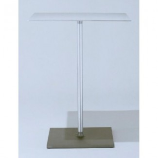 "24"" Square Brushed Aluminum Cafe Table"
