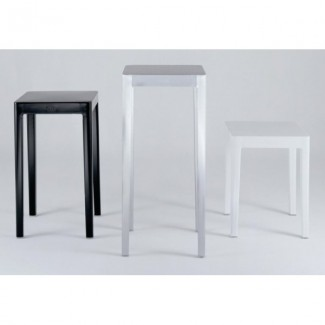 "Emeco 14"" Square Aluminum Occasional Table - 24"" High"