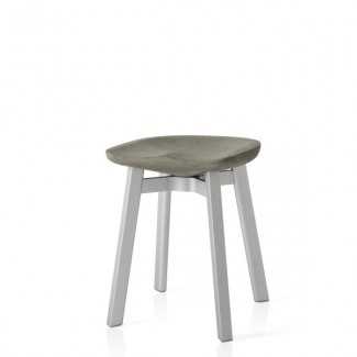 Eco Friendly Indoor Restaurant Furniture Emeco SU Series Small Stool - Eco Concrete Seat