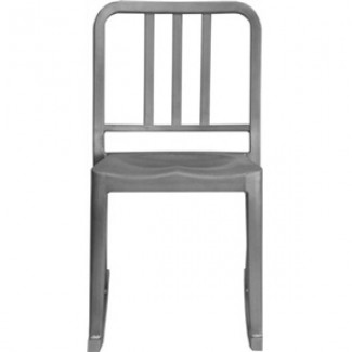 Eco Friendly Indoor Restaurant Furniture Heritage Aluminum Rocking Chair