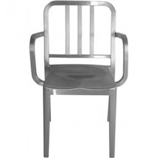 Heritage Aluminum Stacking Arm Chair