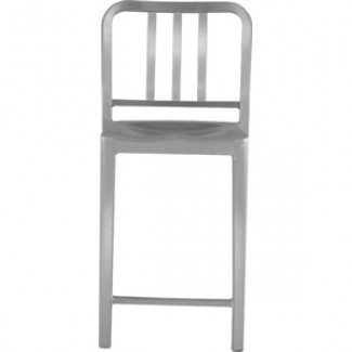Eco Friendly Indoor Restaurant Furniture Heritage Aluminum Stacking Counter Stool
