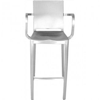 Hudson Aluminum Bar Stool with Arms