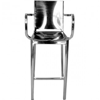 Hudson Aluminum Counter Stool with Arms