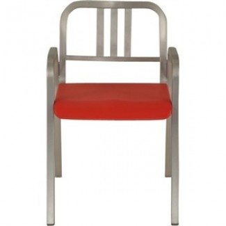 Nine-0 Aluminum Stacking 3-Bar Back Arm Chair