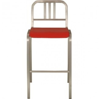 Nine-0 Aluminum Stacking 3-Bar Back Bar Stool