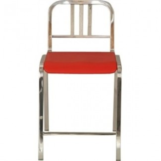 Nine-0 Aluminum Non-Stacking 3-Bar Back Counter Stool