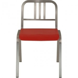 Nine-0 Aluminum Stacking 3-Bar Back Side Chair