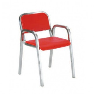 Nine-0 Aluminum Stacking Soft Back Arm Chair