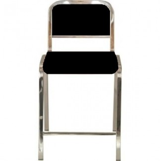 Nine-0 Aluminum Non-Stacking Soft Back Counter Stool